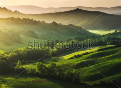 Fotomural Paisagem maravilhosamente iluminada da Toscana