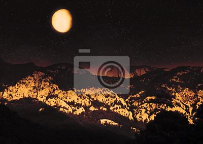 Fotomural paisagem noturna