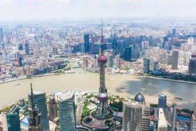 Fotomural paisagem urbana de Xangai