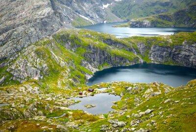 Fotomural Paisagens do Norte da Noruega. Lofoten ilhas