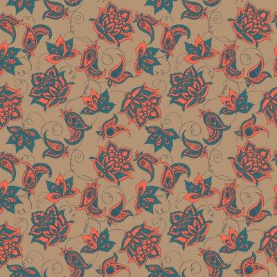 Fotomural Paisley padrão sem emenda