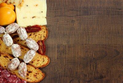 Fotomural Pane, salames e formaggi