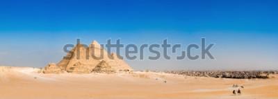 Fotomural Panorama da área com as grandes pirâmides de Gizé, no Egito