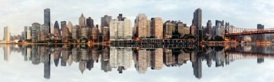 Fotomural Panorama de grande angular da cidade de Nova york