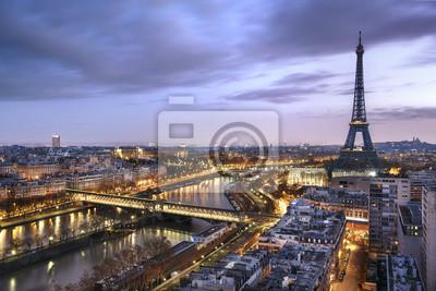 Fotomural Panorama de la ville de Paris avec la Tour Eiffel