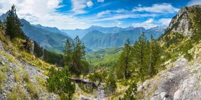 Fotomural Panorama de montanhas no norte da Albânia