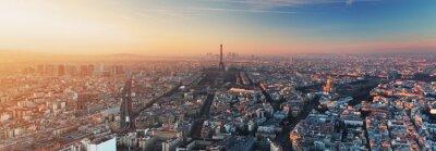 Fotomural Panorama de Paris no por do sol