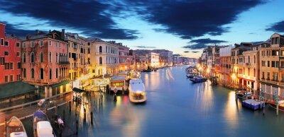 Fotomural Panorama de Veneza da ponte de Rialto