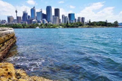 Fotomural Panorâmico, vista, centro cidade, Sydney, Skyline, porto