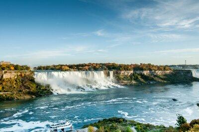 Fotomural Panorâmico, vista, Niagara, quedas, Outono