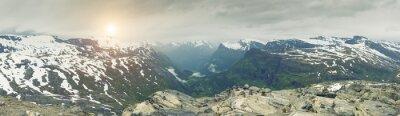 Fotomural Panorâmico, vista, noruega, montanha, paisagem