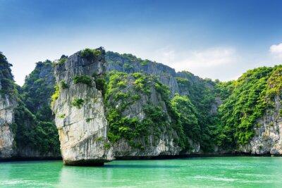 Fotomural Panorâmico, vista, rocha, pilar, karst, ilhas, Ha, longo, baía
