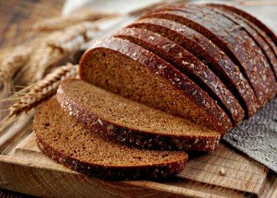 Fotomural Pão de centeio fresco