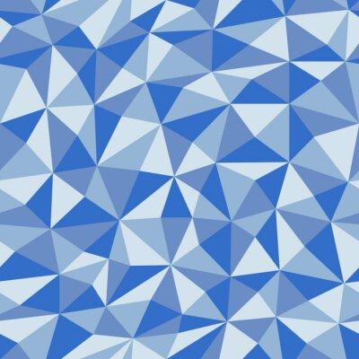 Fotomural Papel amassado azul com padrão geométrico sem costura