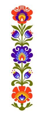 Fotomural Papercut popular polonês das flores