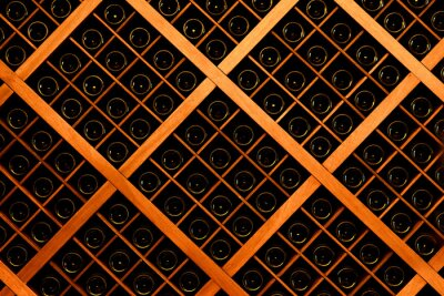 Fotomural Parede de garrafas de vinho