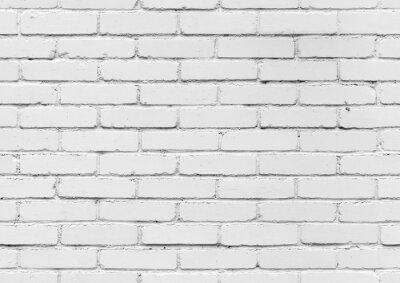 Fotomural Parede de tijolo branco, textura de fundo sem emenda