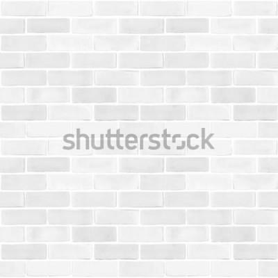 Fotomural Parede de tijolos sem costura branca cinza cor padrão textura de fundo