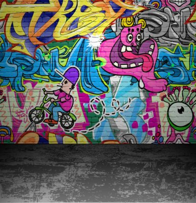 Fotomural Parede Graffiti rua urbana pintura da arte