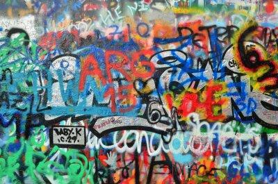 Fotomural Parede pulverizada com grafite