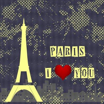Fotomural Paris - a cidade do amor e romantismo