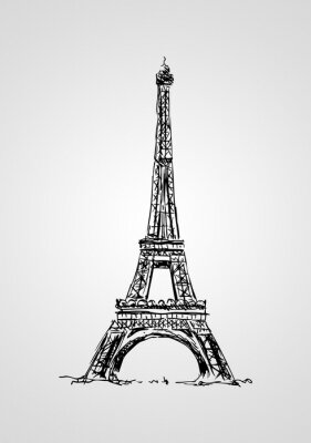 Fotomural Paris arte da ilustração do design