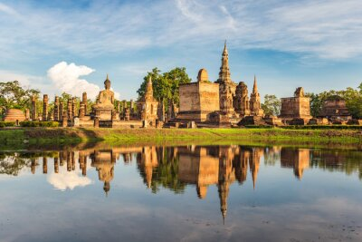 Fotomural Parque Histórico de Sukothai, Tailândia