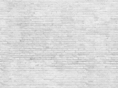 Fotomural Parte vazia da parede de tijolo pintada branca.