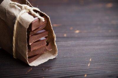 Fotomural Partes de chocolate embalados