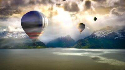 Fotomural Passeio de balão