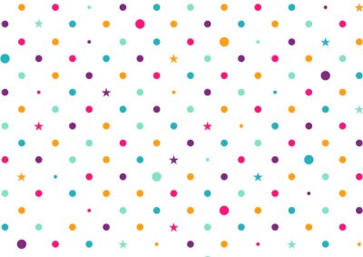 Fotomural Pastel coloridos pontos fundo branco ilustração vetorial
