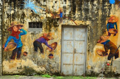 Fotomural Património de Ipoh, Malásia - Ipoh é uma cidade na Malásia, cerca de 200 km ao norte de Kuala Lumpur ..