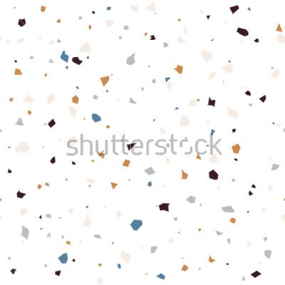 Fotomural Pavimento de pavimento e teste padrão moderno de superfície texturizada. Repetição abstrata sem emenda do vetor com microplaquetas de madeira ou granito em cores pastel macias.
