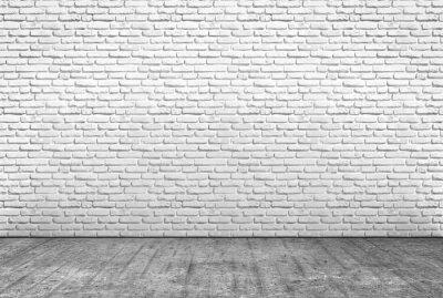 Fotomural Pavimento em cemento e muro em mattoni bianchi