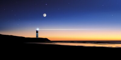 Fotomural Paysage phare-mer