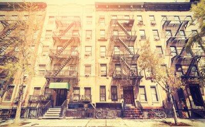 Fotomural Película velha foto do estilo retro de rua de Nova York, EUA.
