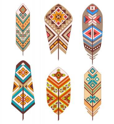 Fotomural Penas tribais com padrão étnico
