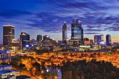 Fotomural Perth, CBD, parque, amanhecer