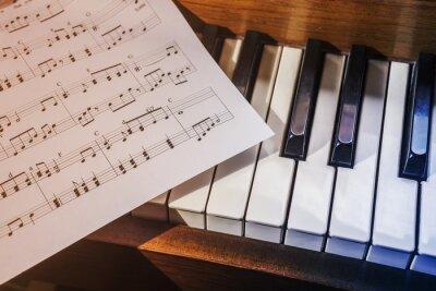 Fotomural Piano keys and sheet music