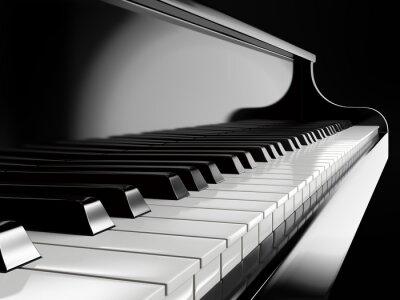 Fotomural Piano, teclas, pretas, piano