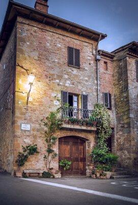 Fotomural Pienza de noite, Toscana