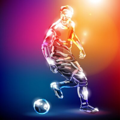Fotomural piłka nożna WEKTOR