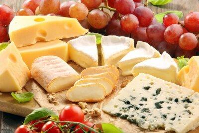 Fotomural Placa do queijo - vários tipos de queijo