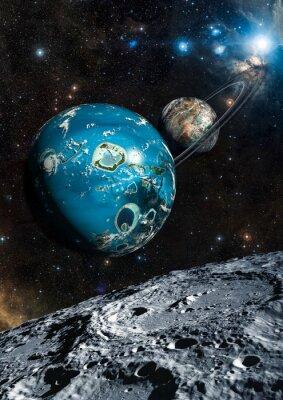 Fotomural Planeta Estrangeiro Exo. Elementos desta imagem fornecidos pela NASA