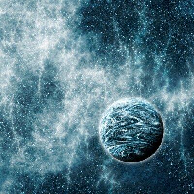 Fotomural Planeta Extrasolar em um Espaço Warped