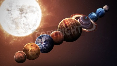 Fotomural Planetas do sistema solar da qualidade de Hight. Elementos desta imagem fornecidos pela NASA