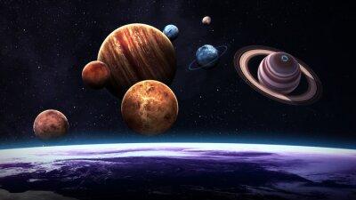 Fotomural Planetas isolados do sistema solar da alta qualidade. Elementos desta imagem fornecidos pela NASA