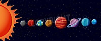 Fotomural Planetas, solar, sistema, Ilustração
