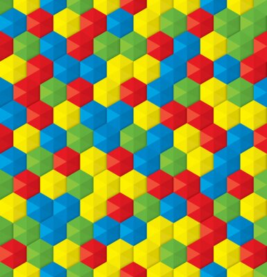 Fotomural plastic mosaic seamless background