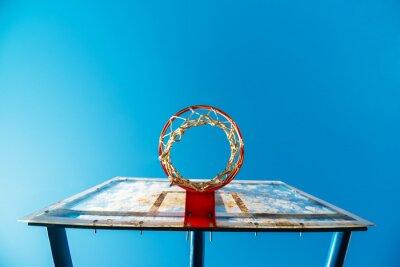 Fotomural Plexiglas, rua, basquetebol, tábua, aro, exterior, corte